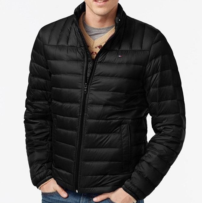 Tommy Hilfiger Mens Lightweight Down Quilted Packable