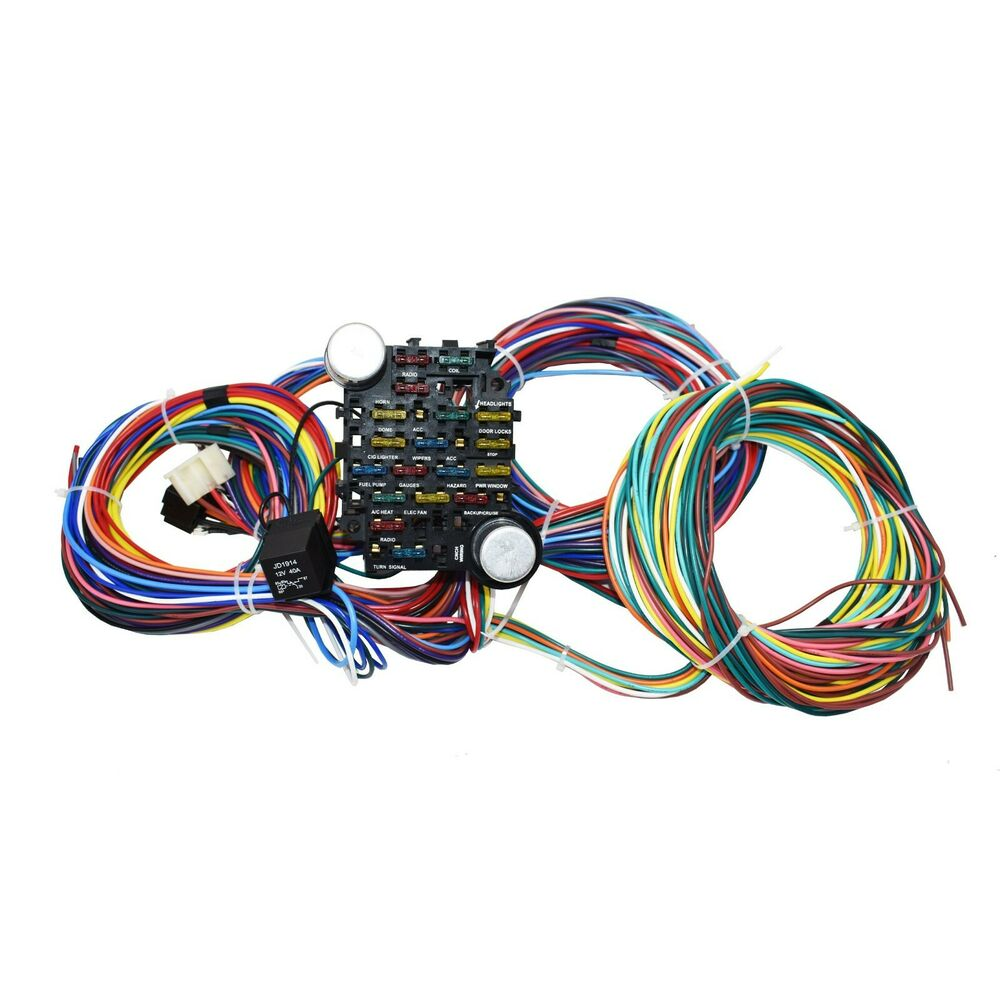 20 circuit wiring harness chevy mopar ford jeep hotrods. Black Bedroom Furniture Sets. Home Design Ideas
