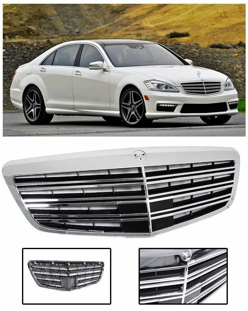 2010 14 mercedes benz mbz w221 replacement front hood for Mercedes benz grills