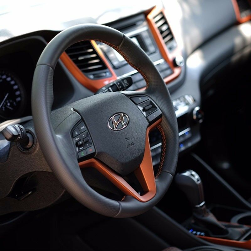 oem parts front interior trim orange package for hyundai 2016 2017 tucson tl ebay. Black Bedroom Furniture Sets. Home Design Ideas