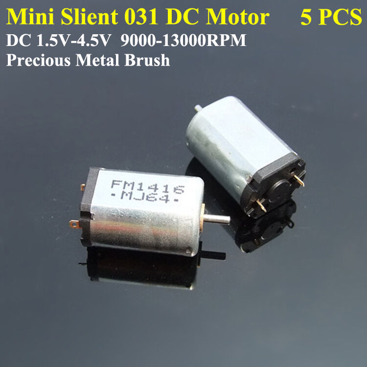5pcs Dc 1 5v 3v 4 5v 13000rpm High Speed Slient Mini Dc