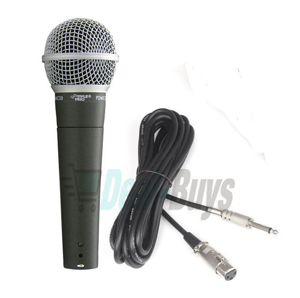 Coiled Microphone Cable : Pyle pdmic professional moving coil dynamic handheld