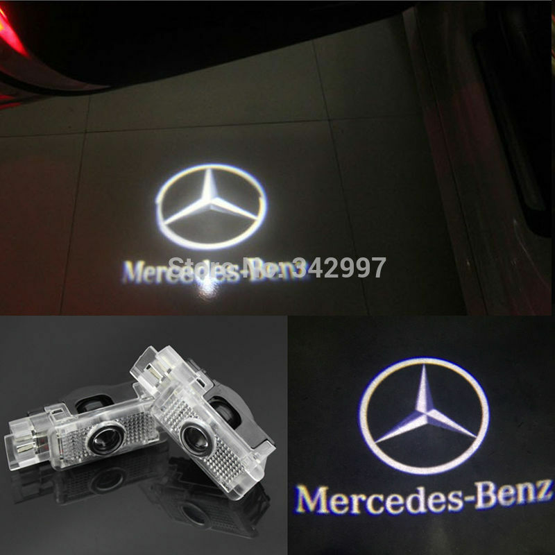 2x ghost led door courtesy laser light for mercedes benz for Mercedes benz door lights