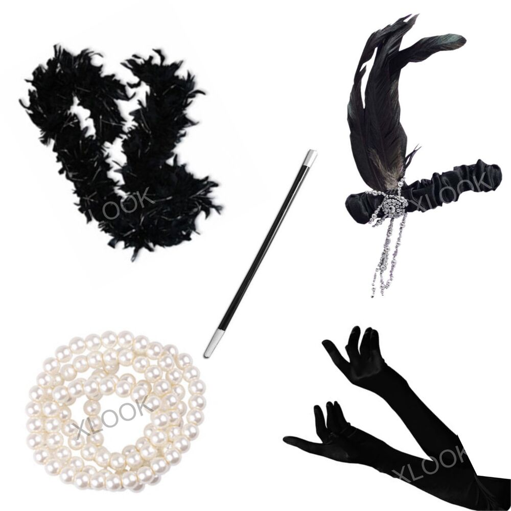 gatsby ladies fancy dress accessories flapper 20s theme