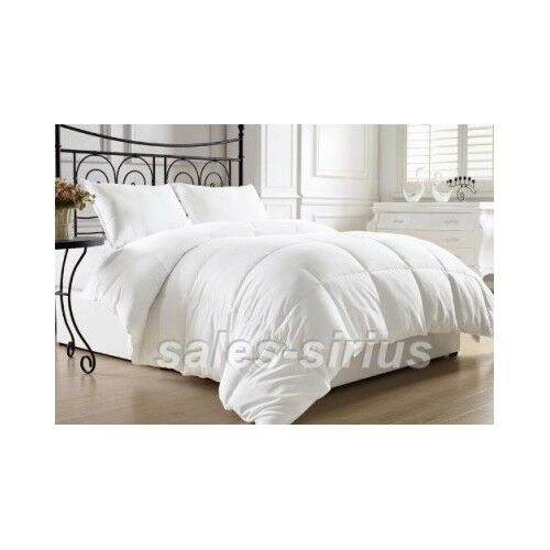 white bed comforter queen full size alternative goose down feather luxury warm ebay. Black Bedroom Furniture Sets. Home Design Ideas