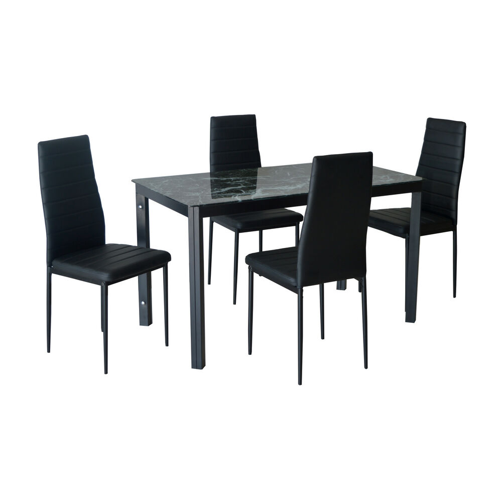 Kitchen dining table and chairs set modern dining room for Modern dining room chairs