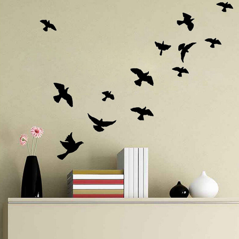 From Seword Wall Art Vinyl Lettering Home Decor ~ Vivid birds wall decals mural stickers removable home room