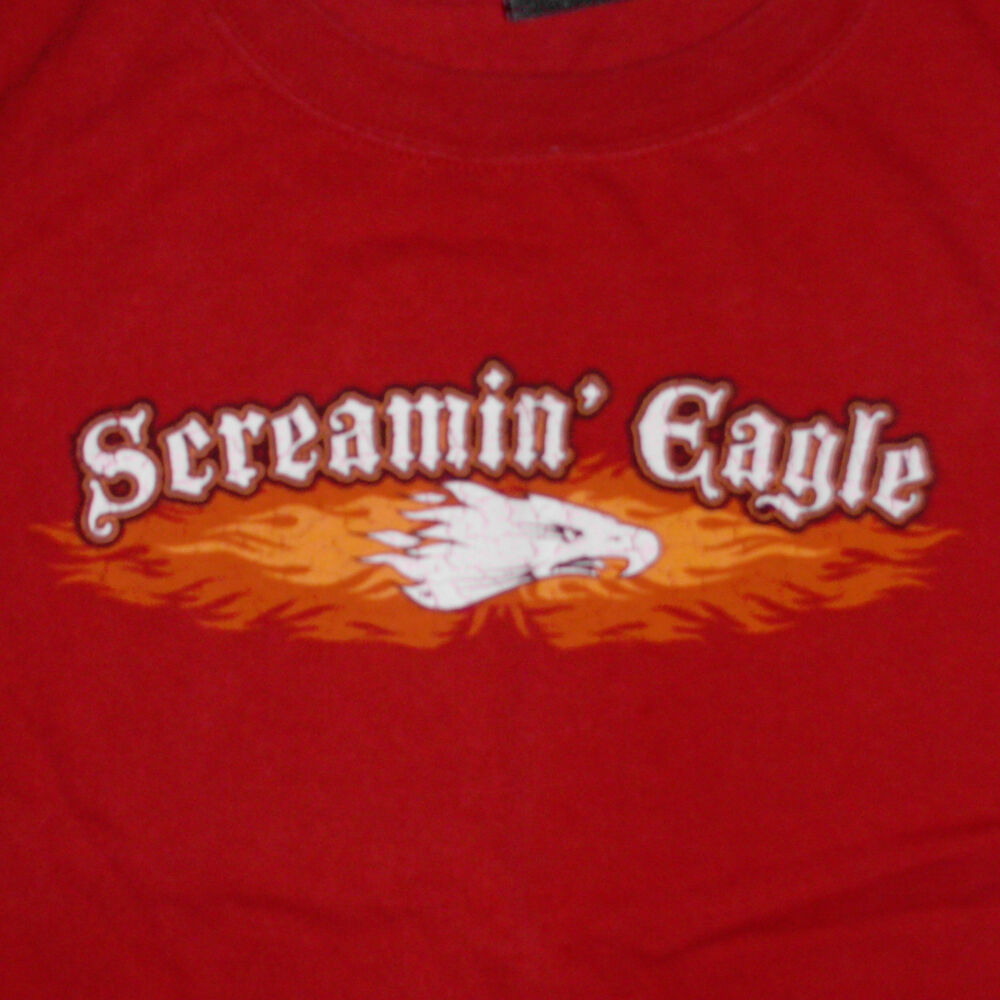 0f3e41fd Details about Harley Davidson Screamin Eagle T-Shirt XXL Motorcycle  Performance Parts Logo Red
