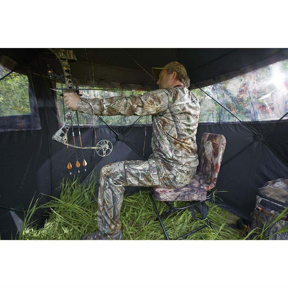 Swivel Hunting Chair Outdoor Archery Bow Rifle Ground