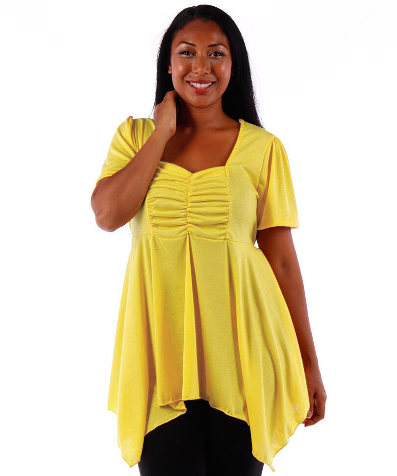 new s plus size clothing yellow babydoll style