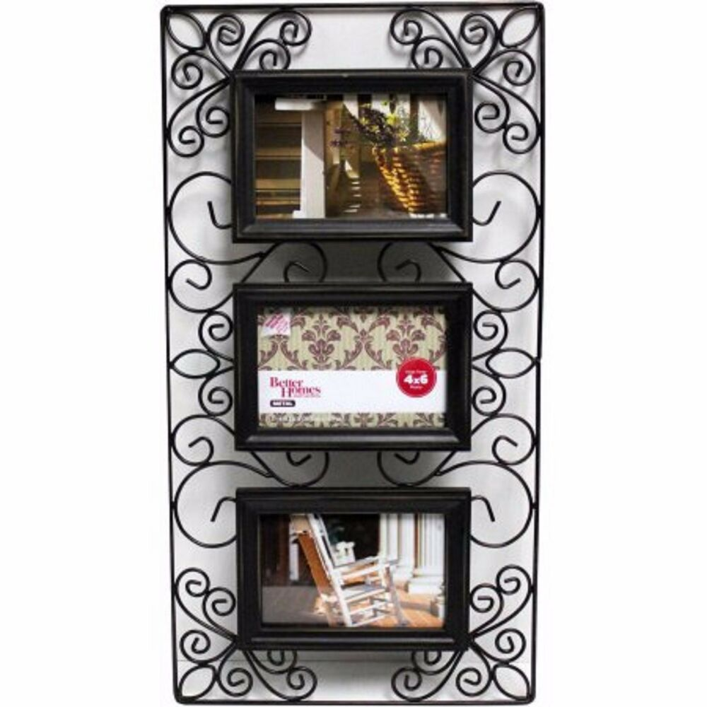 collage frame bronze photo picture wall hanging frames metal wire scroll ebay. Black Bedroom Furniture Sets. Home Design Ideas