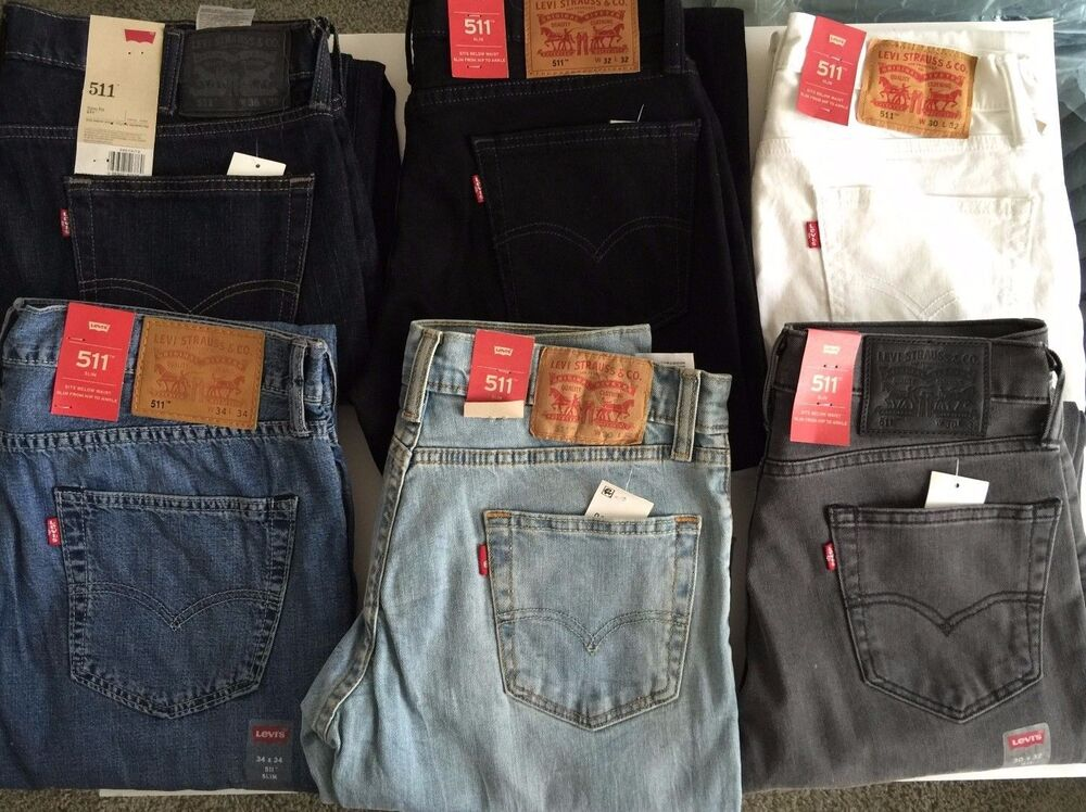Levis Jeans Mens 511 slim fit Denim Skinny 100% original NWT Different Colors | eBay