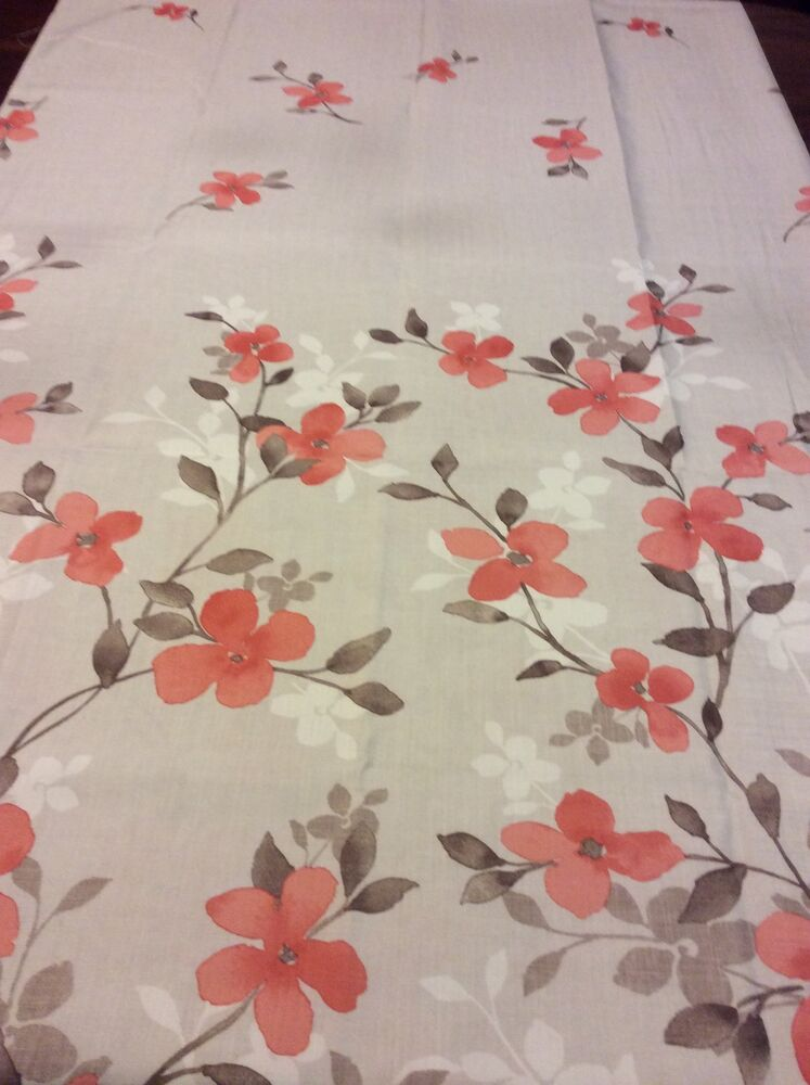 Floral Shower Curtain Beige Taupe Salmon Colors Dogwood