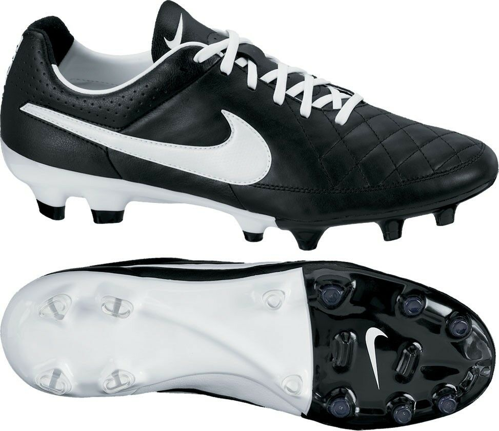 Mens Nike Tiempo Legacy FG Black Leather Football Boots ...