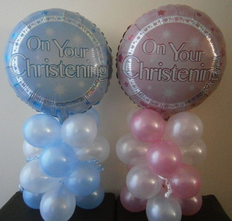 39 on your christening 39 balloon decoration table display for Balloon decoration for christening party