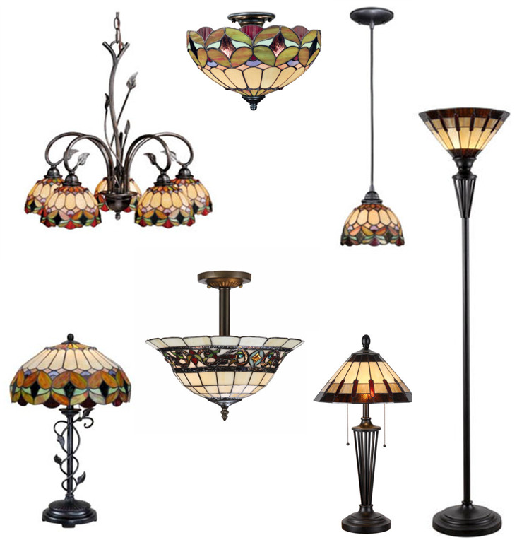 Stained Glass Billiard Light: Tiffany Style Stained Glass Billiard Pendants, Ceiling