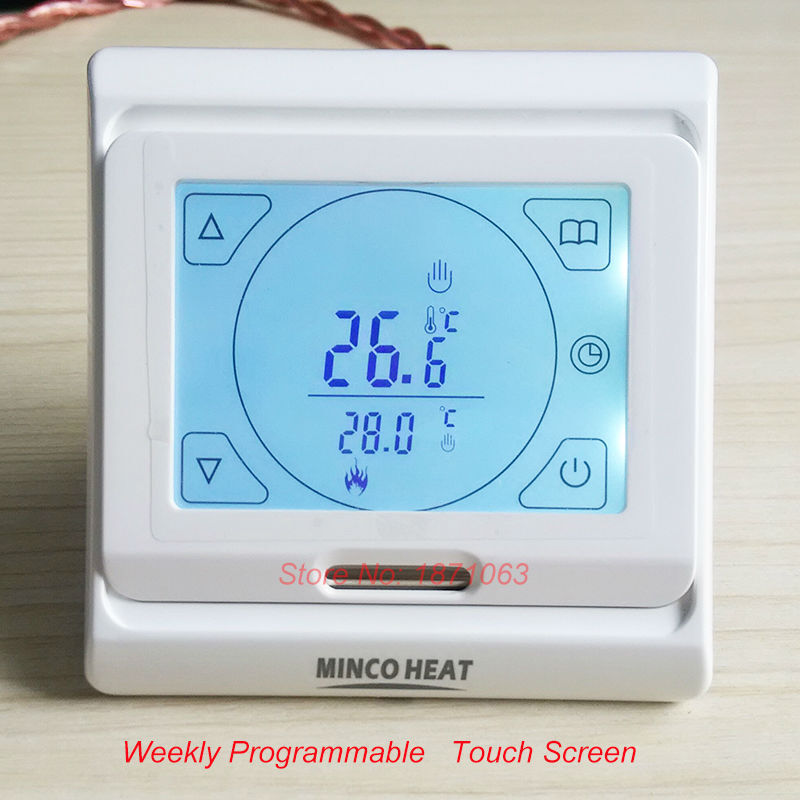 R2 Digital Thermostatic Electric Heating Element Timer For: Minco Floor Heating Thermostat Digital Programmable
