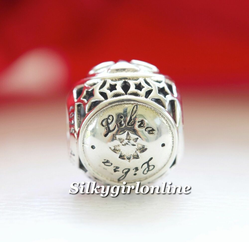 Authentic Pandora Sterling Silver Zodiac Libra Star Sign