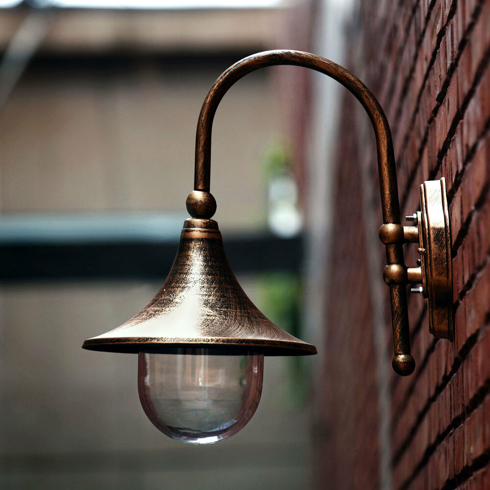 Vintage Style Black Outdoor Exterior Fishermans Wall Lamp Lanterns Light Ligh