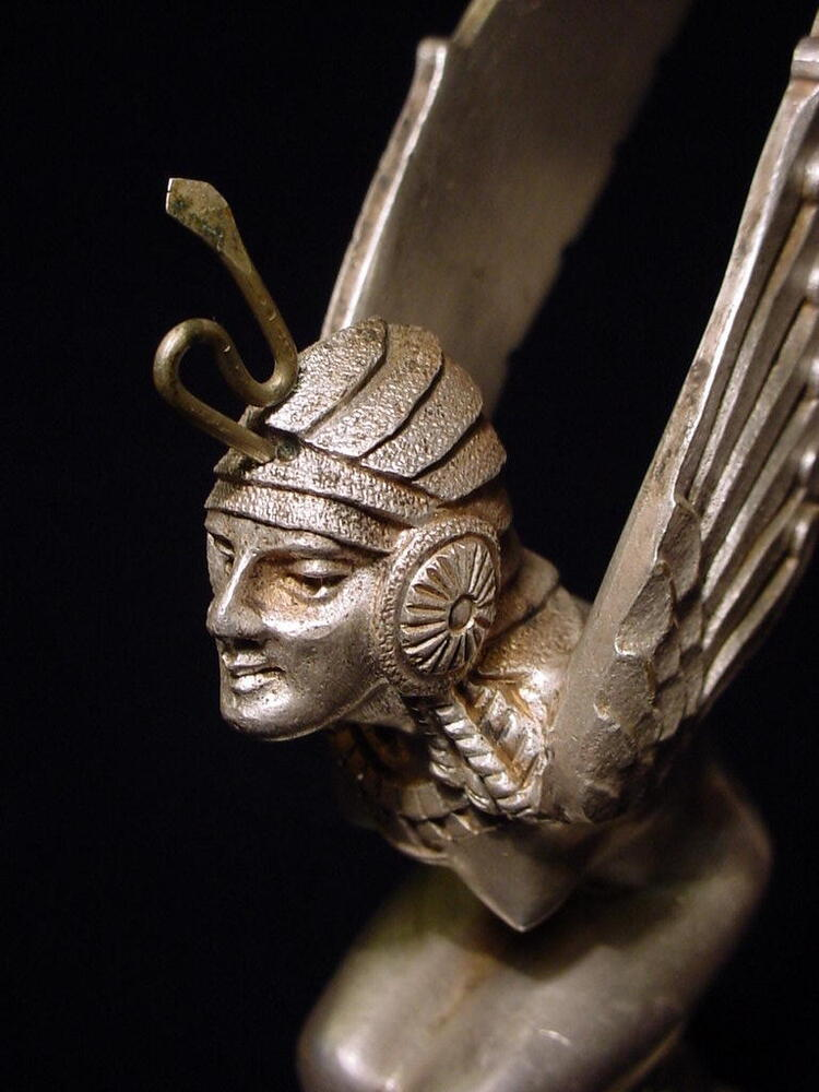 art deco hood ornament by m bonnot french 1920 39 s egyptian ailes ebay. Black Bedroom Furniture Sets. Home Design Ideas