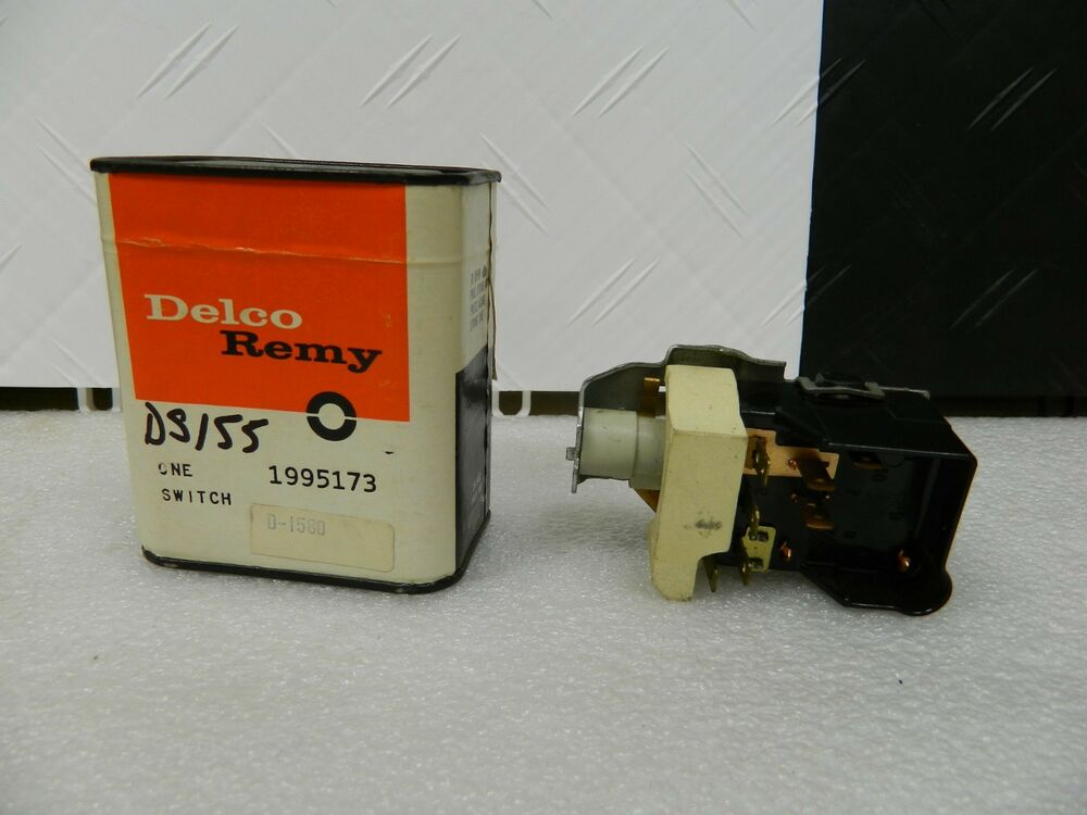 Nos Delco Sealed Box Headlight Switch 1969
