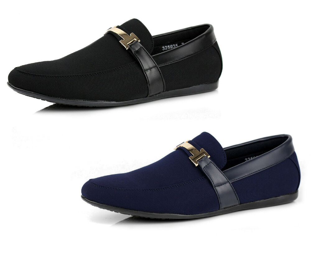 Mens Navy Smart Shoes