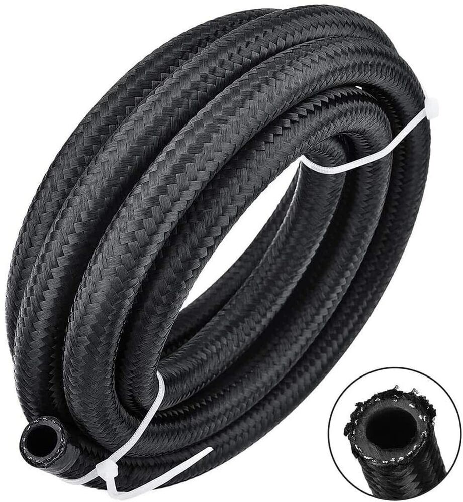 An braided stainless steel turbo oil fuel