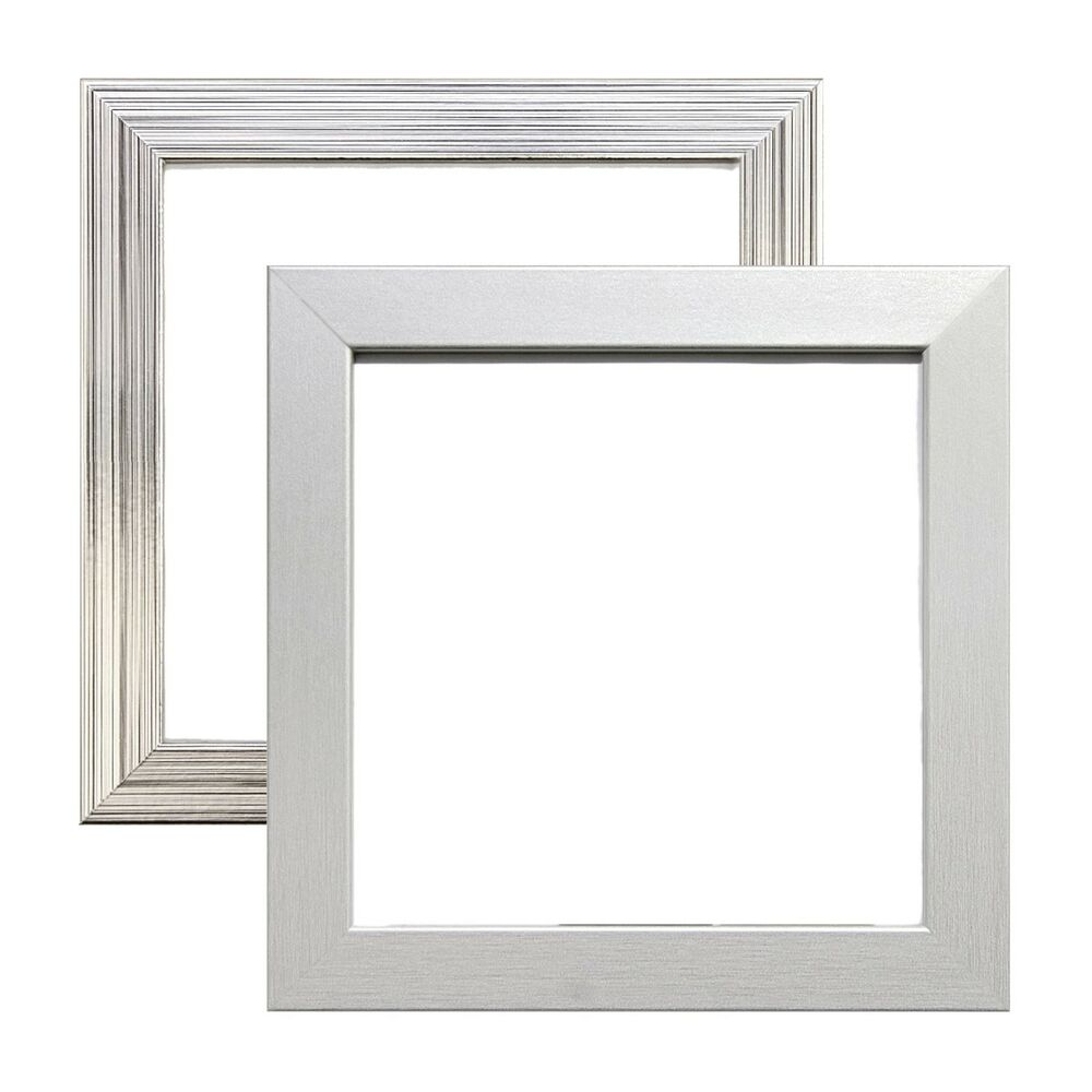 Pewter Chrome Silver Picture Photo Square Frames Metallic