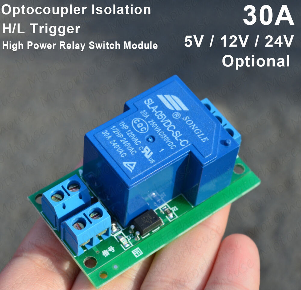 5v 12v 24v 30a High Power Relay Control Switch Optocoupler Isolation Supply Vcc And To 30v Input Led Driver Application Circuits H L Trigger Ebay