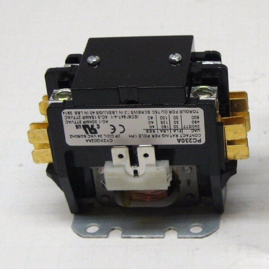 2 Pole Contactor 30 Amp 24vac Coil 50  60hz Hvac Ac Air