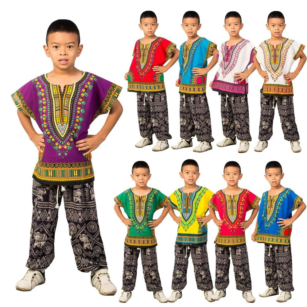 childs kids african traditional dashiki tribal festival