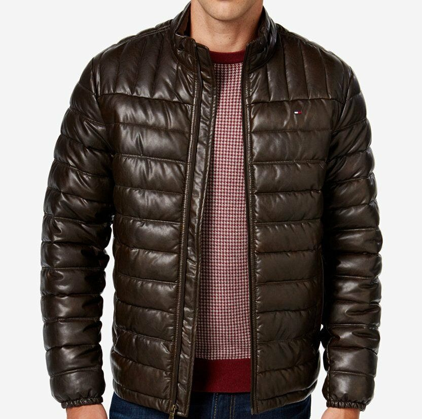 Check out men's Moncler jackets to find puffer vests that pair beautifully with jeans or goose down jackets in bold colors to help you stand out in the crowd. Whether you're headed to the gym or joining friends to watch the big game, toss on a track jacket from BOSS Hugo Boss or PUMA. From asymmetrical men's leather jackets to of-the.