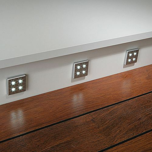 SQUARE KITCHEN LED PLINTH LIGHT KIT COOL WHITE WARM