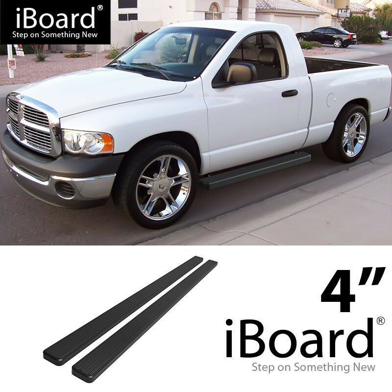 "EBoard Running Boards Black 4"" 02-08 Dodge Ram 1500 03-09"
