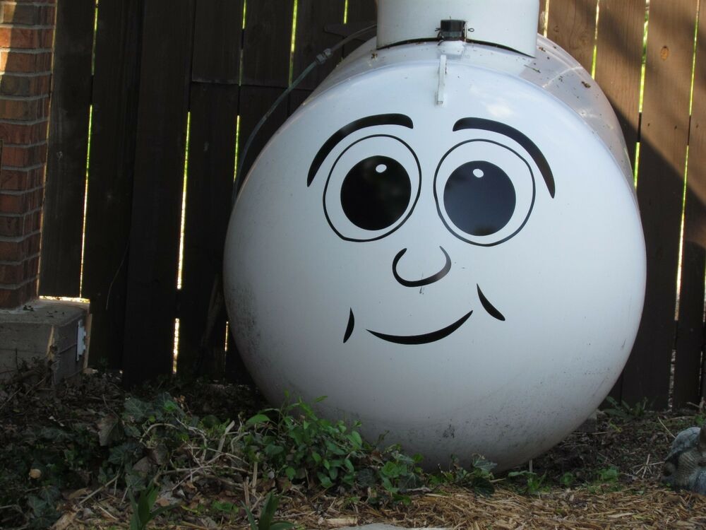 Propane Tank Funny Face Quality Vinyl Decal Sticker