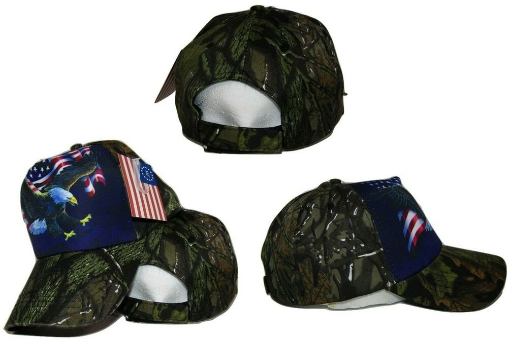 American USA Waving Flag Bald Eagle Camo Camouflage ...