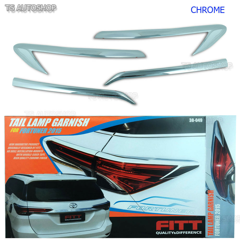Fitt Chrome Rear Tail Lamp Light Cover Trim Fit Toyota