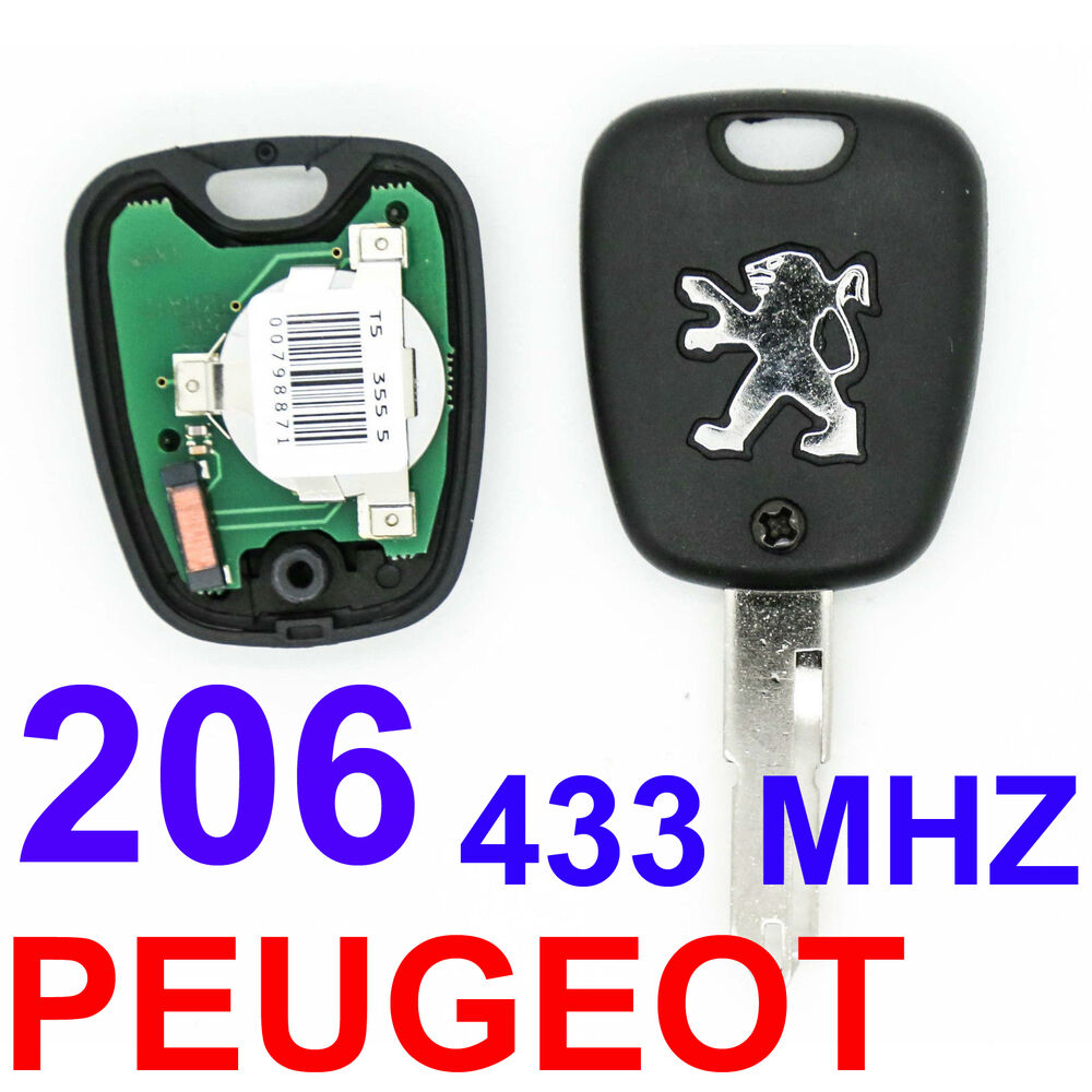 2 button remote key fob blade 433mhz transponder id46 chip. Black Bedroom Furniture Sets. Home Design Ideas