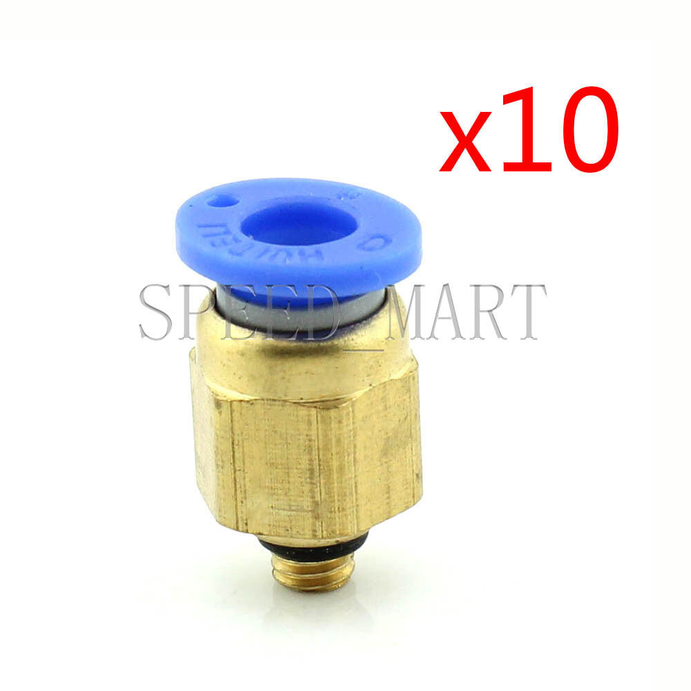 10pcs male connector 6mm tube m5 0 8 metric threaded air pneumatic quick release ebay. Black Bedroom Furniture Sets. Home Design Ideas