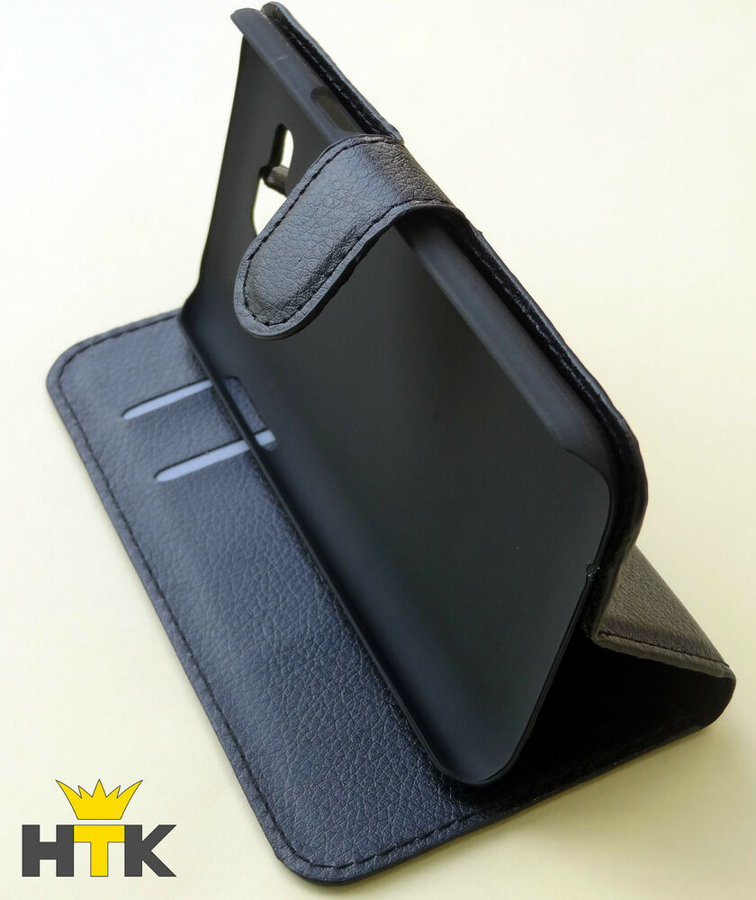 handy tasche flip cover case f r zte blade l3 schwarz. Black Bedroom Furniture Sets. Home Design Ideas