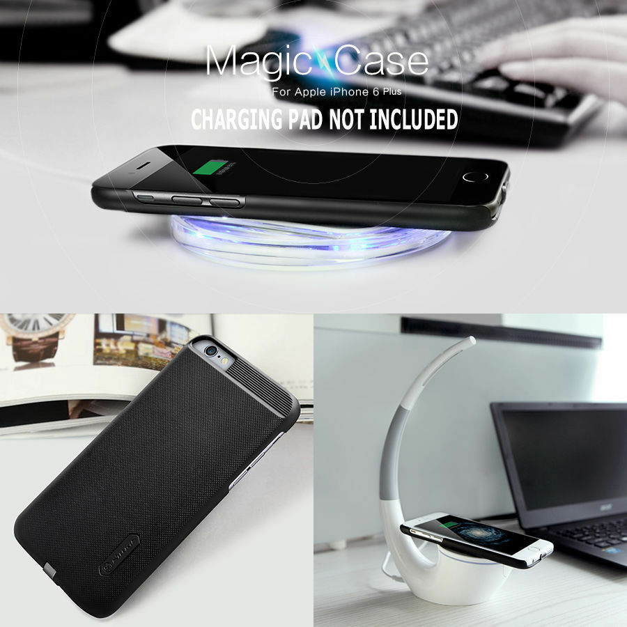 qi wireless charger charging receiver back case for apple iphone 6s 6 se 5s plus ebay. Black Bedroom Furniture Sets. Home Design Ideas