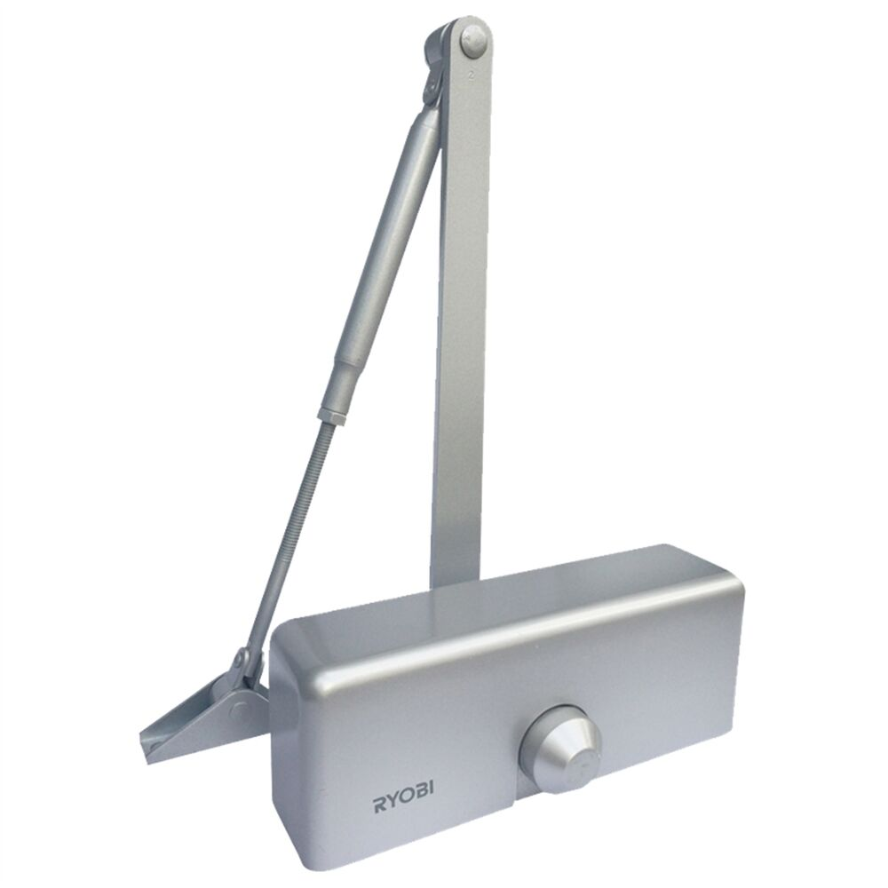Ryobi Hydraulic Door Closer Fire Rated Silver Suitable