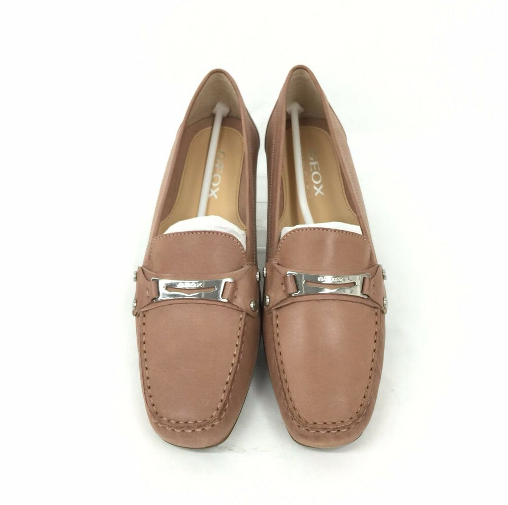 5f50814699b11 Details about Geox Respira D Grin Women's Smooth Leather Loafers D0142W  Size 10 US