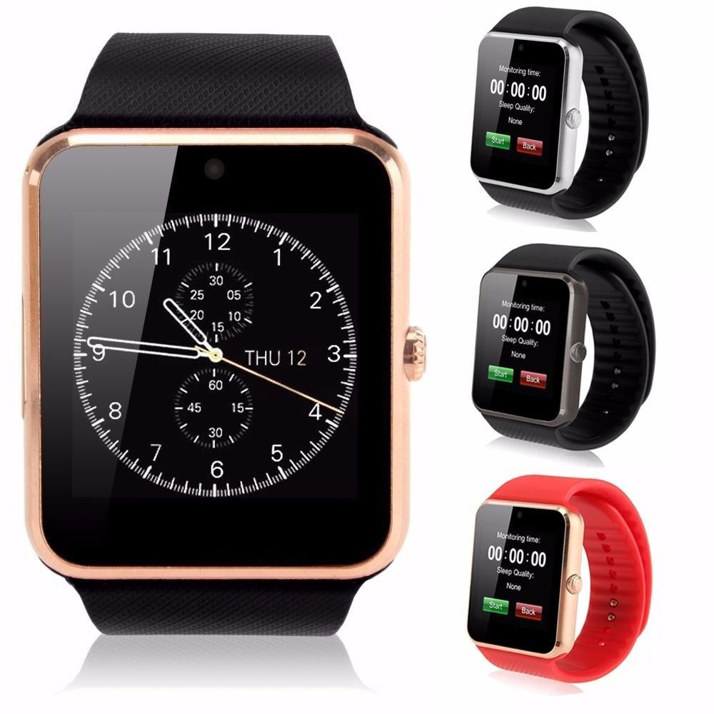 gt08 touch screen bluetooth gsm smart wrist watch phone mate for android ios ebay. Black Bedroom Furniture Sets. Home Design Ideas