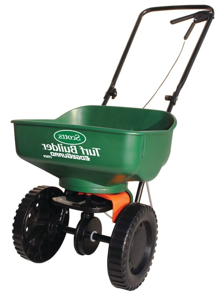 Broadcast Spreader Turf : Scotts turf builder edgeguard mini broadcast spreader ebay