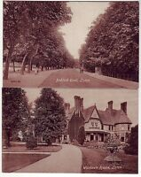 Bedford Road and Wardown House, Luton, Bedfordshire, on fine mint postcards