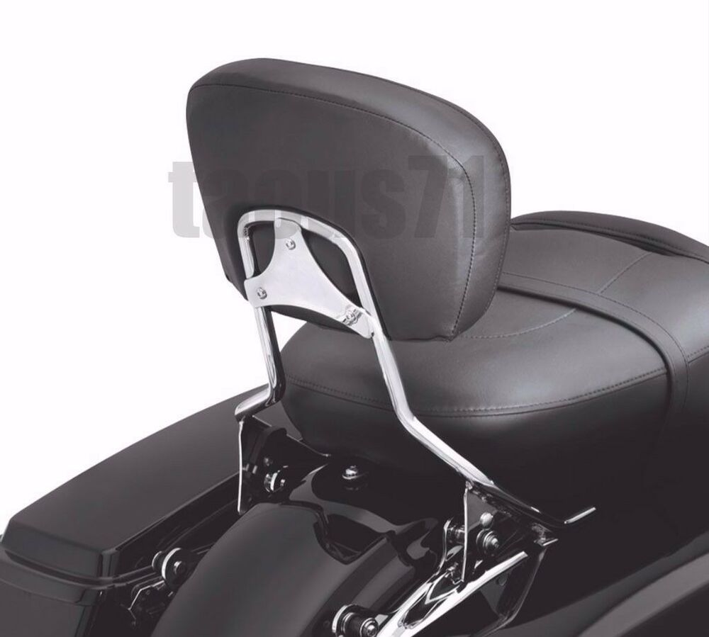 detachable backrest sissy bar for harley touring street glide road glide 09 16 ebay. Black Bedroom Furniture Sets. Home Design Ideas