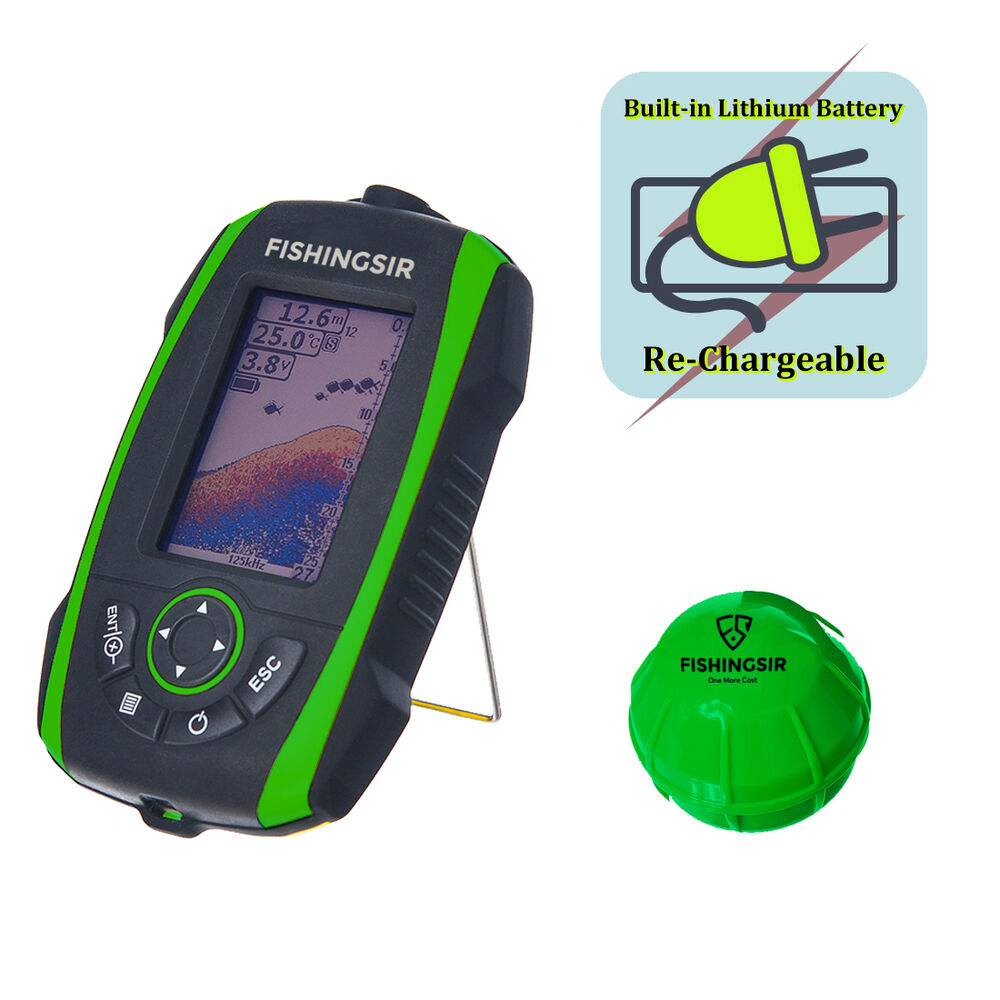Portable wireless fish finder waterproof smar sonar for Fish finder transducer