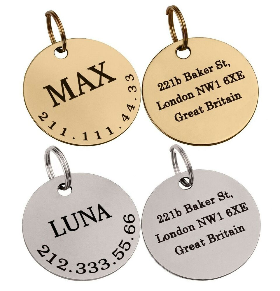 Double Sided Brass Dog Tags