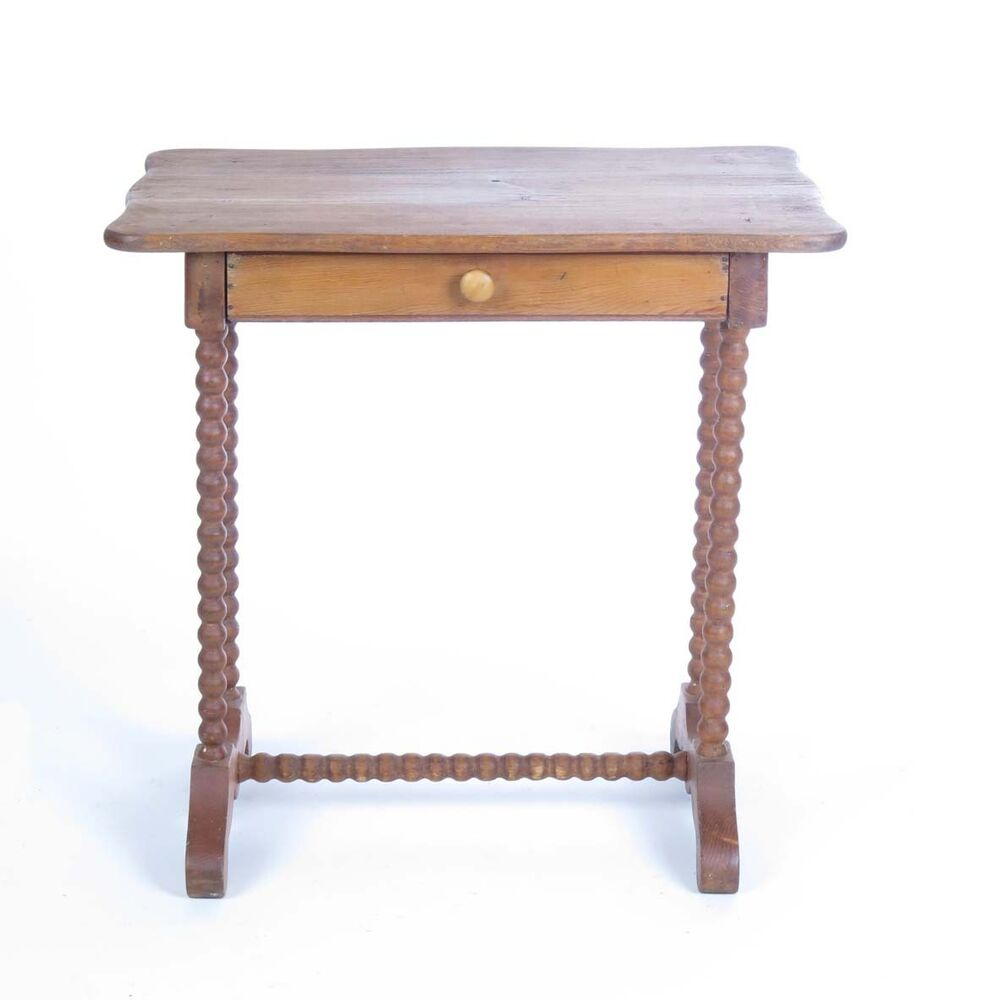 Vtg Small Table Side Stand 1 Drawer Barley Twist Legs